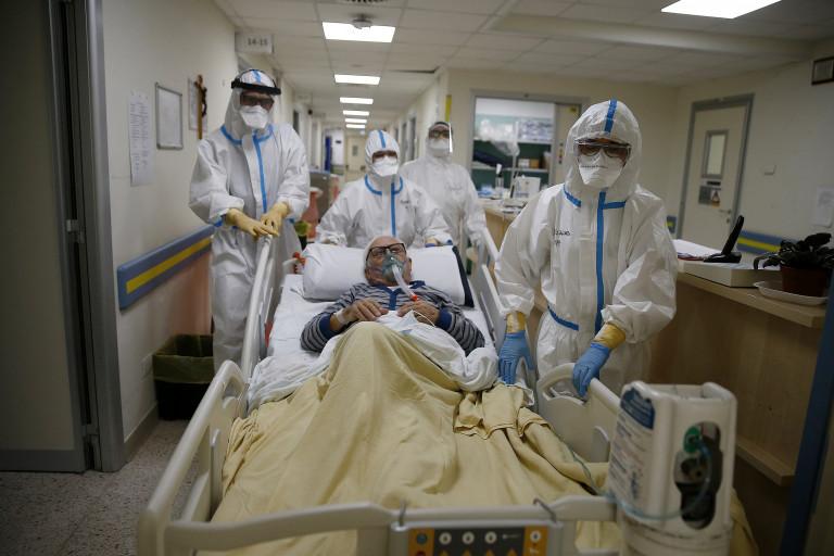 Reparto Covid dell'ospedale San Filippo Neri