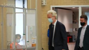 Geert Wilders al seggio