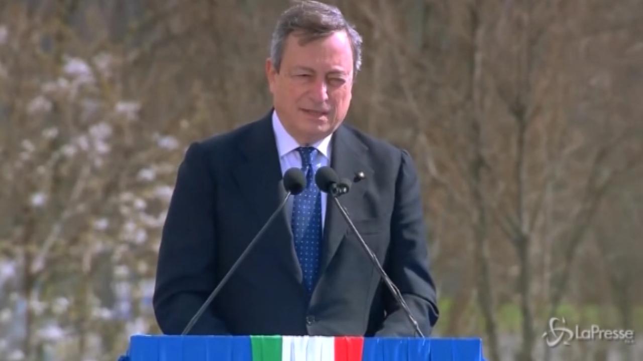 Draghi omaggia le vittime
