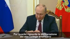 Putin risponde a Biden