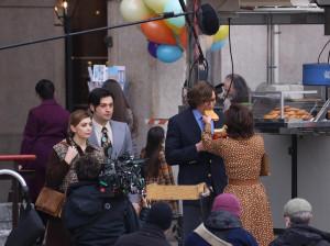 Il set del film House of Gucci a Milano