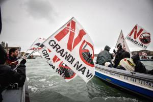 Manifestazione dei No Tav e No Grandi Navi a Venezia