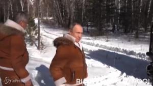 weekend di relax nella taiga per Putin