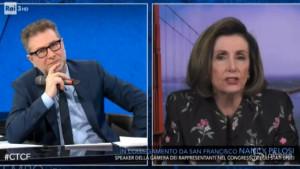 Nancy Pelosi da Fazio