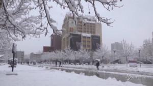 tormenta di neve in Kosovo