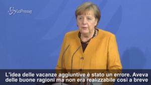 Merkel revoca il lockdown di Pasqua
