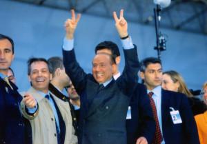 Berlusconi Silvio dopo la vittoria delle elezioni