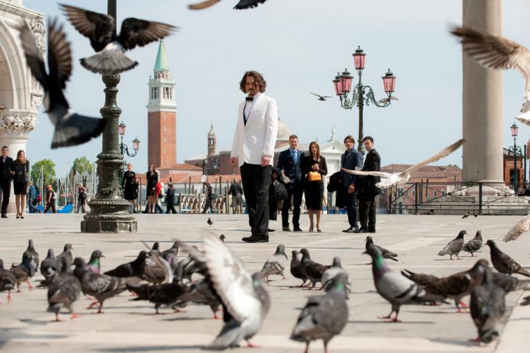 Johnny Depp nel film The Tourist girato a Venezia