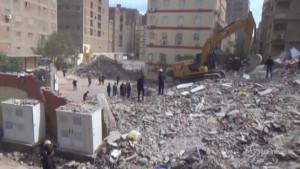 palazzo crollato in Egitto