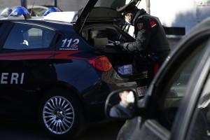 posto di blocco dei Carabinieri a San Pietro