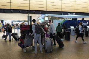 Alaska Airlines all'aeroporto di Seattle