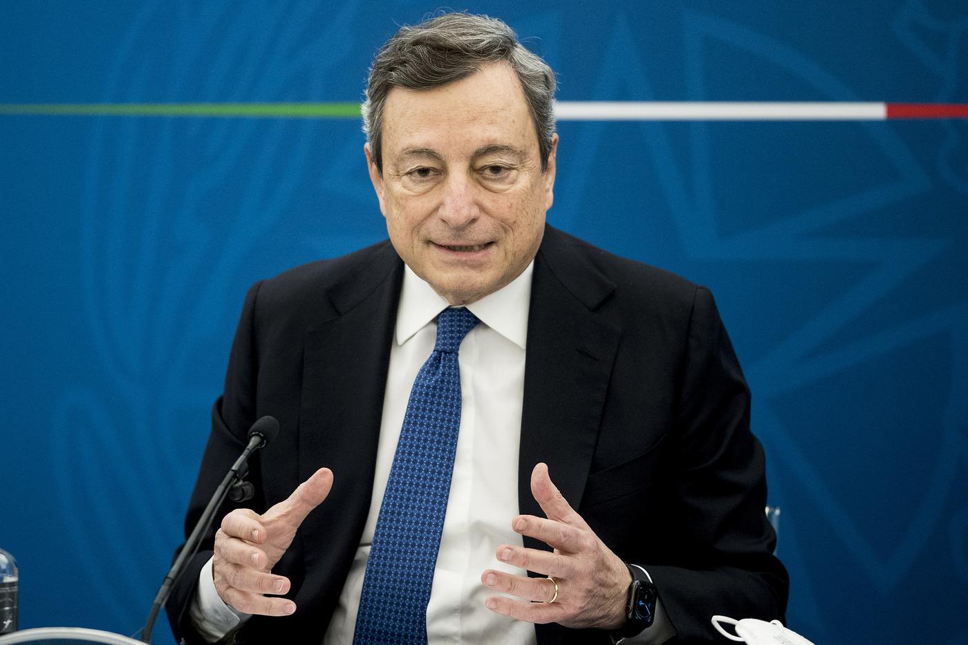 Conferenza stampa del Presidente del Consiglio Mario Draghi
