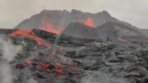 Eruzione del vulcano a Reykjavik