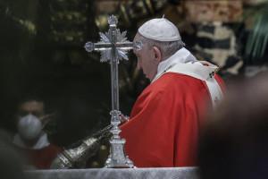 Domenica delle Palme, la messa di Papa Francesco nella Basilica di San Pietro