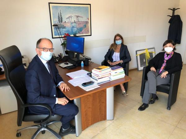 Enrico Letta incontra Serracchiani e Malpezzi