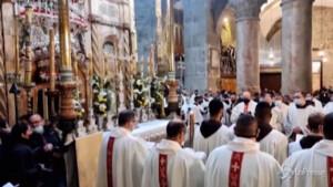 Gerusalemme la messa dal Santo Sepolcro