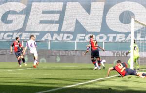destro mattia realizza il gol del 1-0