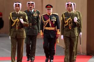 Re di Giordania Abdullah II in visita ad Amman
