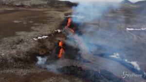 nuova spaccatura in un vulcano
