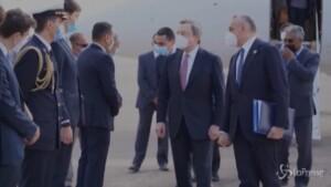 Mario Draghi in visita ufficiale a Tripoli