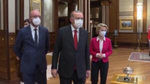 Von der Leyen e Charles Michel incontrano Erdogan ad Ankara