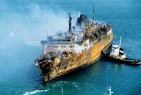 Le foto a bordo del traghetto dopo la tragedia