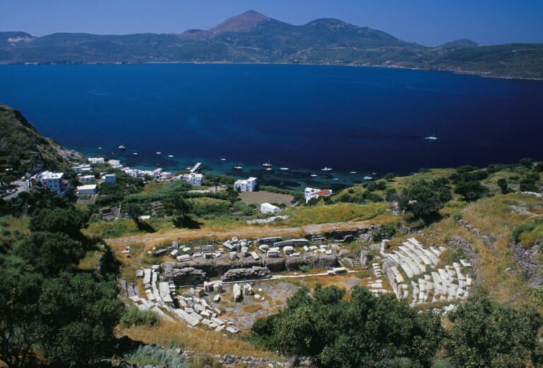Vista dall' alto,dell'isola, di Milos (Grecia)