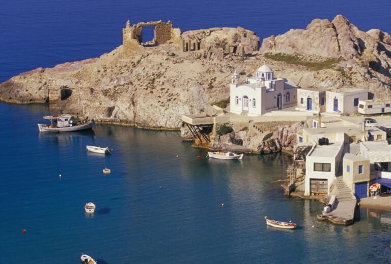 Vista dall'alto,dell'isola, di Milos