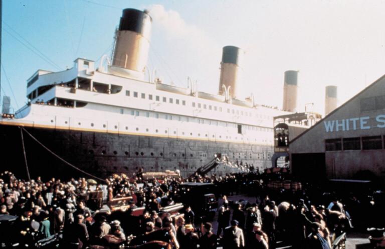 Scena del film Titanic del regista James Cameron