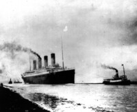 Il transatlantico britannico Titanic salpa da Southampton