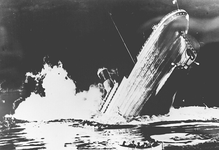 "Film ""Titanic"", diretto dal regista Jean Negulesco."