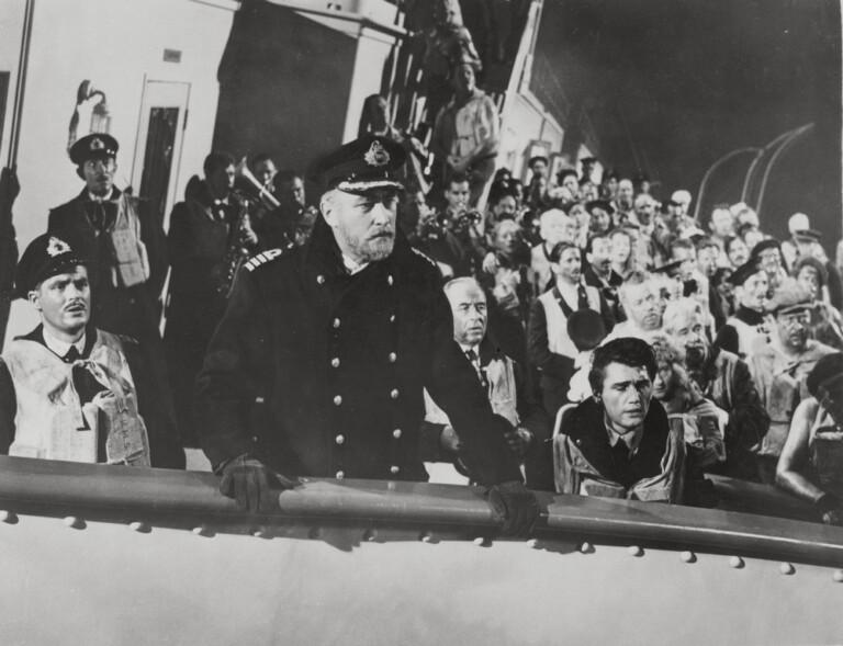 """1953 - scena del film """"Titanic"""", diretto dal regista Jean Negulesco"""