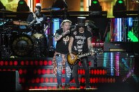 Axel Rose, left and Slash of The Guns and Roses Metal band performs during the Vive Latino music festival in Mexico City