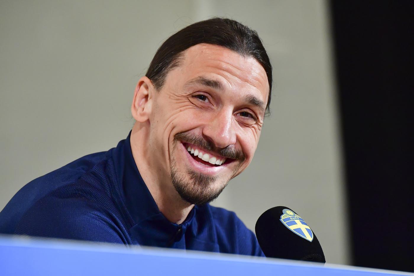 Nazionale Svezia, conferenza stampa di Zlatan Ibrahimovic a Stoccolma