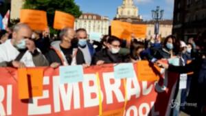 Ex Embraco, presidio dei lavoratori a Torino