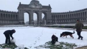 neve nella capitale belga