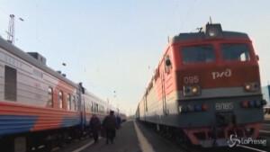 treno speciale per vaccinare i cittadini in Siberia