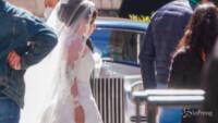 Lady Gaga in abito da sposa
