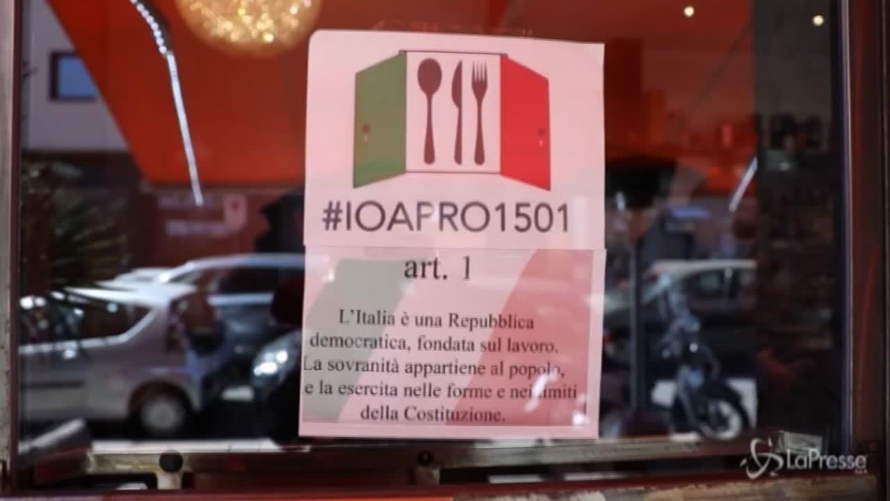 Milano, il ristoratore ribelle