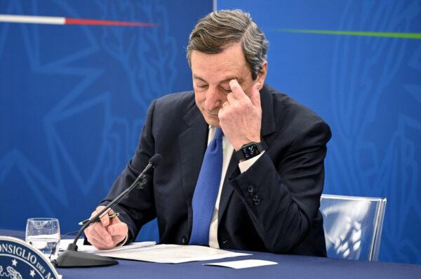 Conferenza stampa del Presidente Mario Draghi