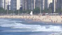 Gente in spiaggia a Rio de Janeiro