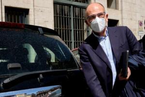 Il segretario PD Enrico Letta