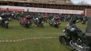 motociclisti in pellegrinaggio al santuario Czestochowa