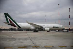 aerei Alitalia sulla pista