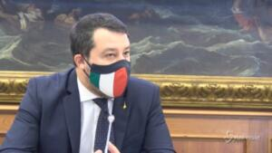 Scontri a Roma, Salvini