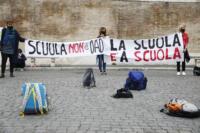 Roma, manifestazione Nazionale per la riapertura delle scuole