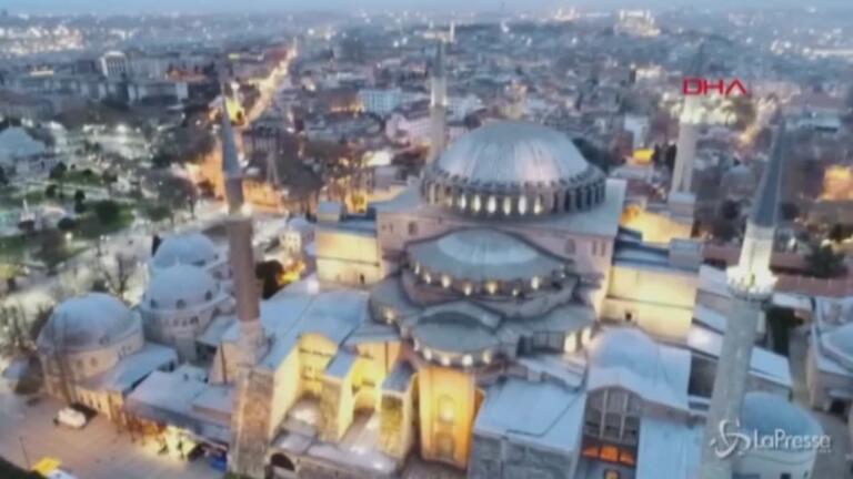 Ramadan nella moschea di Santa Sofia