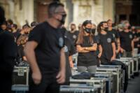 Manifestazione lavoratori dello spettacolo Bauli in Piazza
