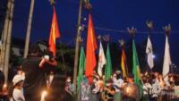 fiaccolata contro il golpe a Dawei