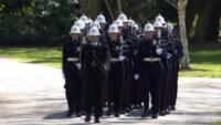 marcia nel parco del Castello di Windsor